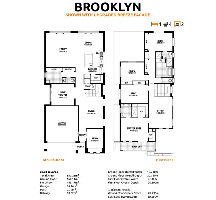 Brooklyn Floor Plan
