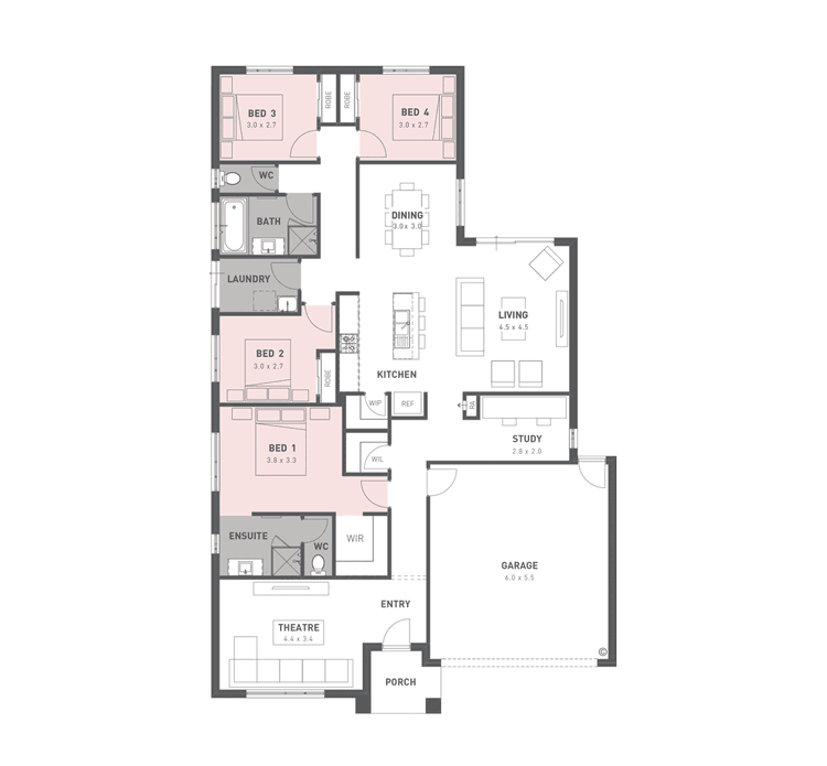 Willow 22 Floor Plan