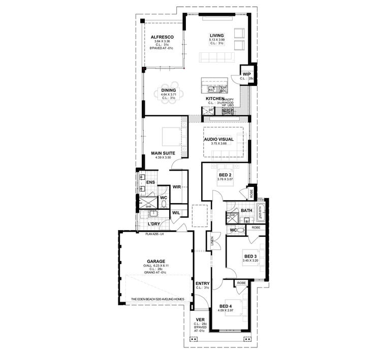 Eden Beach S2 Floor Plan