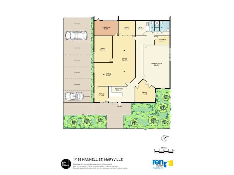 1/166 Hannell Street Wickham NSW 2293 - Floor Plan 1
