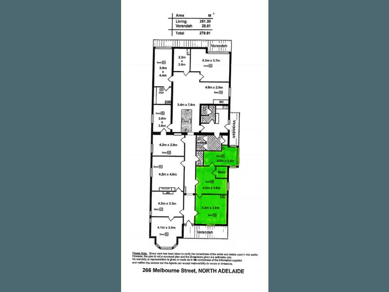 MELBOURNE ST MEDICAL, 266 Melbourne Street North Adelaide SA 5006 - Floor Plan 1