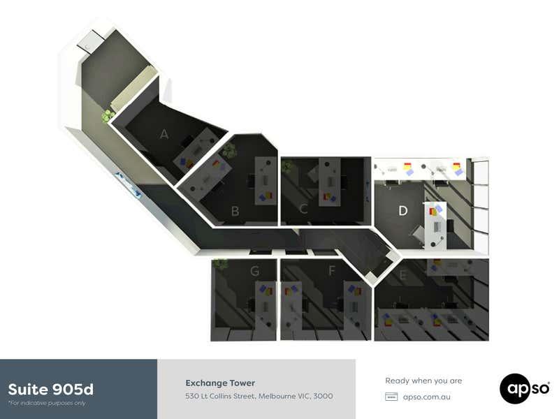 Exchange Tower, Suite 905d, 530 Little Collins Street Melbourne VIC 3000 - Floor Plan 1