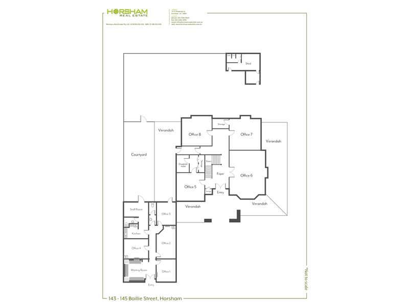 Droylsden House , 145A Baillie Street Horsham VIC 3400 - Floor Plan 1