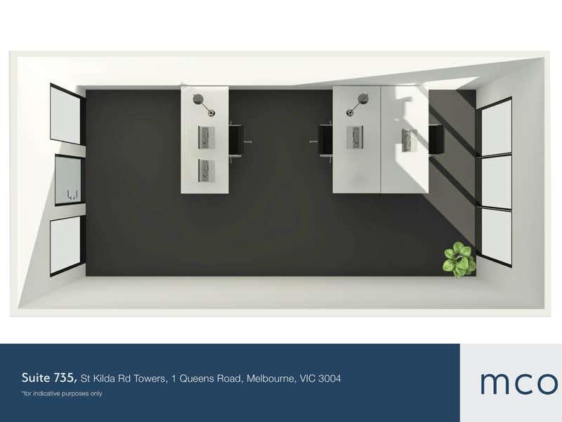 St Kilda Rd Towers, Suite 735, 1 Queens Road Melbourne VIC 3004 - Floor Plan 1