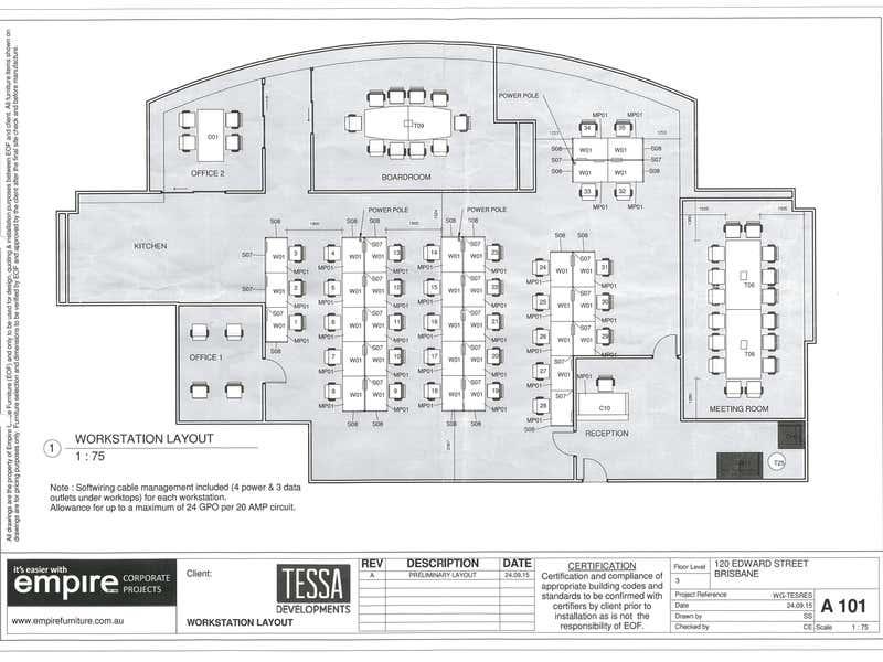 Level 3, 120 Edward St Brisbane City QLD 4000 - Floor Plan 1