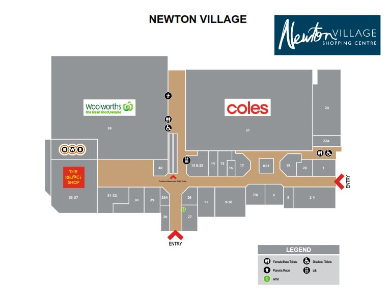Newton Village Shopping Centre , 299   Montacute Rd Newton SA 5074 - Floor Plan 1