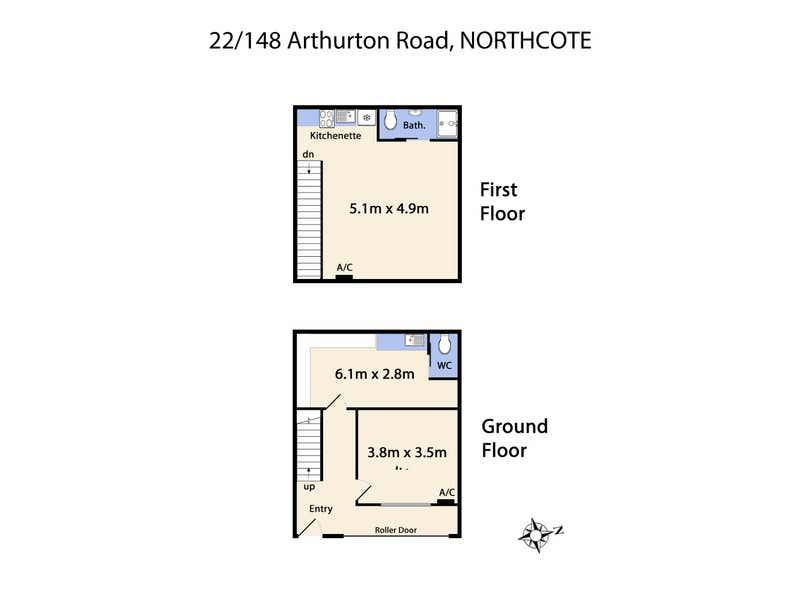 22/148 Arthurton Road Northcote VIC 3070 - Floor Plan 1