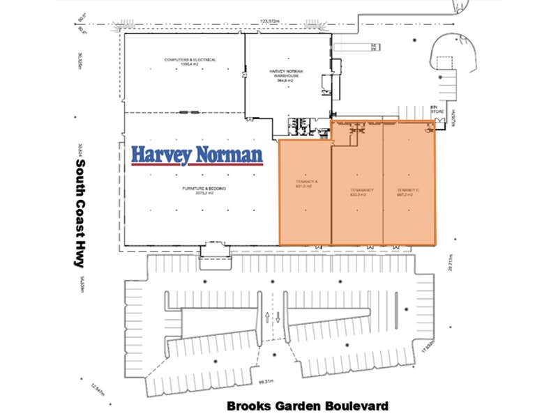 'Harvey Norman Centre Albany' - LEASED!, 5 Brooks Garden Boulevard Albany WA 6330 - Floor Plan 2