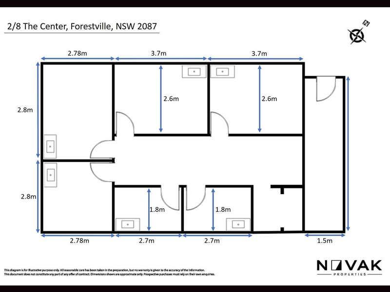 2/8 The Centre Forestville NSW 2087 - Floor Plan 1