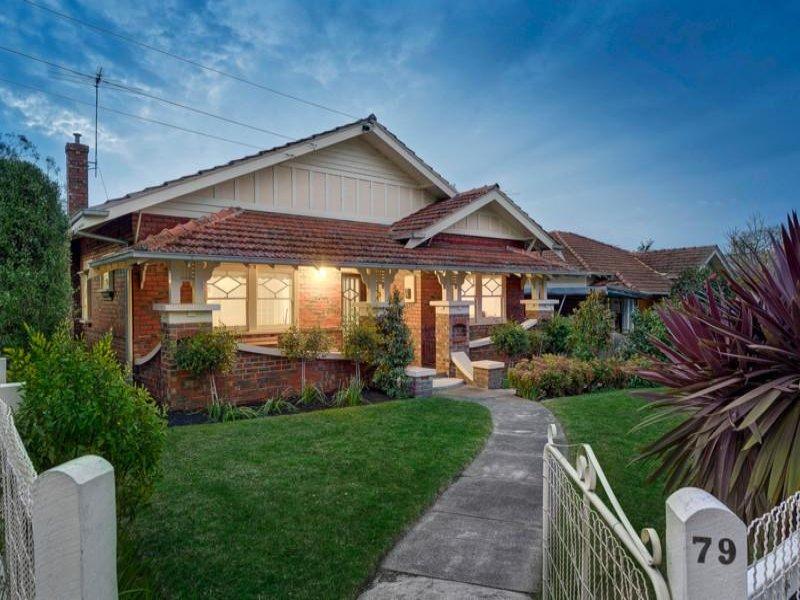 exterior garage door paint ideas - Brick californian bungalow house exterior with porch