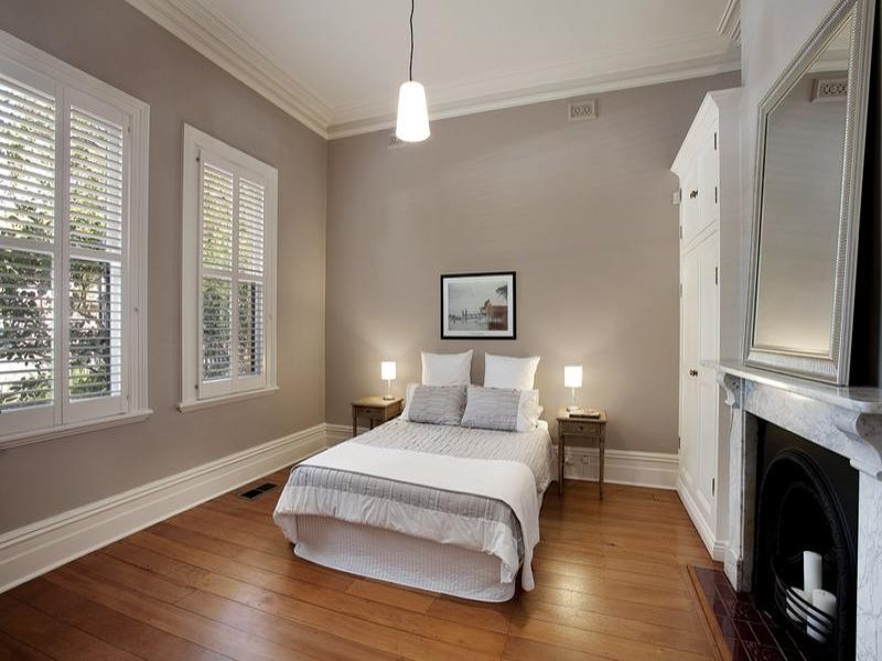 purple bedroom design idea from a real australian home modern bedroom design idea with wood panelling amp built in 275