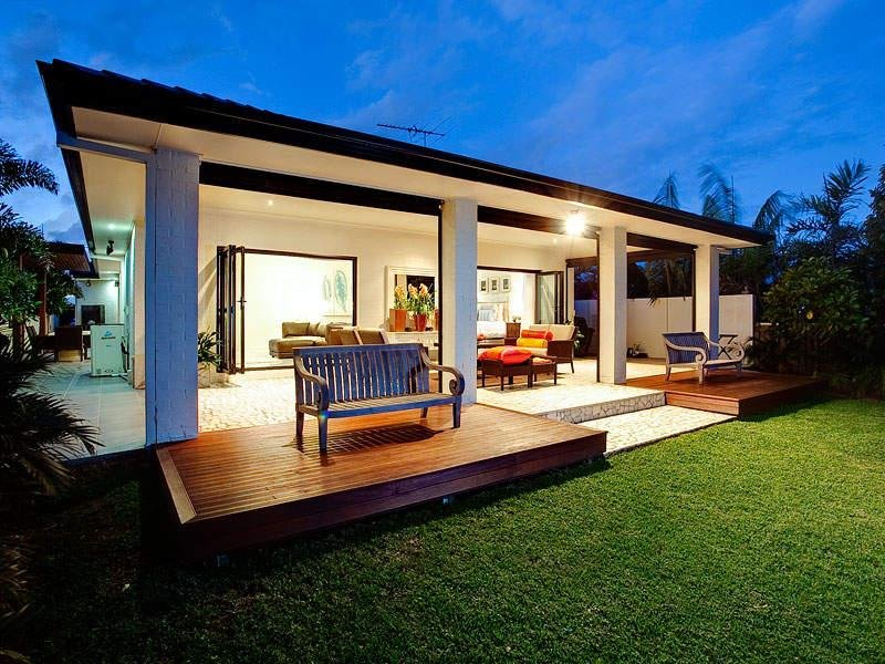 Outdoor living design with deck from a real Australian ... on Aust Outdoor Living id=47099