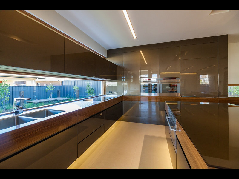 kitchen design window splashback modern island kitchen design using stainless steel 903